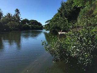 Riverfront Cottage in Haleiwa