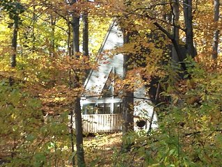 A-Frame in the Woods near Road America, Lakes and Golf