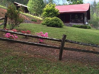 Log Cabin Inn --Vacation Rental on acreage and trout water out front