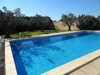 Gorgeous Farmhouse In The Middle Of Vineyards With Private Pool In Visan