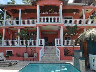 Seaside Inn: Toucan King Suite- Private Pool! West Bay Beach!!