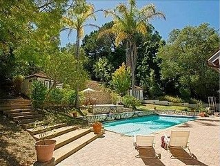 Montecito Sycamore Canyon Estate: Beautiful, Gated Acre-Large Pool! Families!