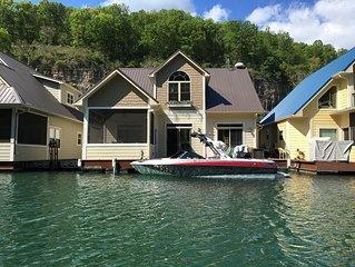 Beautiful Norris Lake Floating house property. New rental 3 bedroom, 2 bathroom.