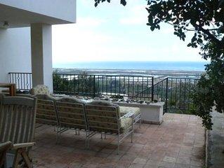 Amazing Mediterranean Sea Views from Zichron Yaacov Apartment