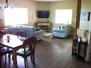 Spacious one bedroom suite with full kitchen facilities