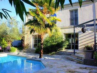 Nice House, 5 Bedrooms With Heated Pool At 15 Min From Bordeaux Center