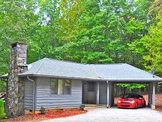 PRIVATE, PET FRIENDLY & SERENE! Surrounded by acres of woods, yet close to Town.