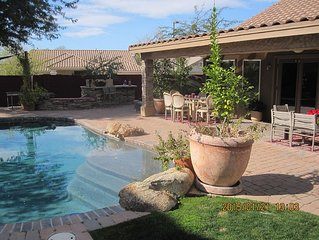 Two Bedroom House with pool in North Phoenix near the town of Cave Creek