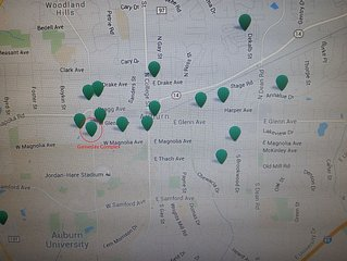 Closest VRBO property to campus, especially to Jordan-Hare Stadium!