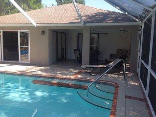 3 Bedroom Home with Heated Pool -Vanderbilt Beach