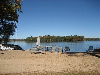 Minocqua 2br Lake Home, Beach, & Boat Harbor