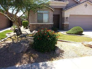 Sunny Maricopa spacious Vacation Home.  Clean 3Bd/2Bath. Close to everything