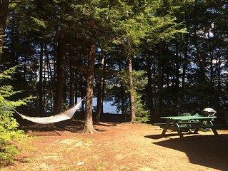 Log Cabin On Pristine Quiet Maine Pond