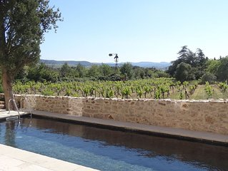 Loft d' Oc. Self catering in Languedoc, France. Swimming pool. By the vineyards