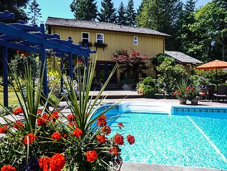Relax in secluded tranquility in stunning 3 bedroom home, with pool and hot tub
