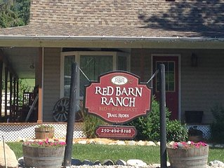 Country Living on Red Barn Ranch ideal for family or two couples