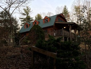 Luxury Private Mountain Cabin, Trails, Hiking, Fishing, Wildlife, Forest