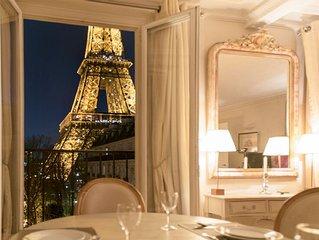 Last-Min Sale! Perfect Elegant Sunny-Breathtaking Eiffel View! AC-Wifi-Left Bank