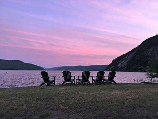 Adirondack cottage. Park like setting. Gorgeous shared lakefront.