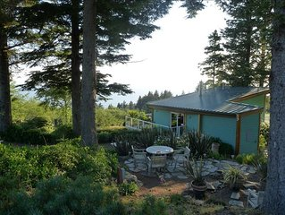 Ocean View Retreat Nestled in Forest -- Cozy, Serene, Private