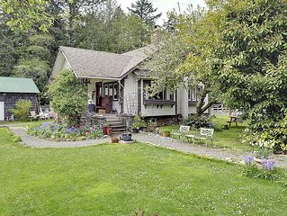 Malahat Farm Heritage Retreat so close to West Coast beaches and trails