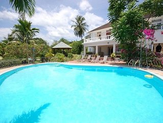 Stunning Natural beauty villa overlooking the crystal Caribbean Sea - sleeps 20