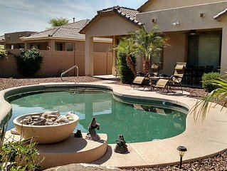Arizona Oasis, Dog Friendly, Private Pool, Quiet Neighborhood & Beautiful Yard