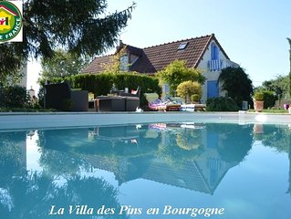 Holiday home with pool in the south of Burgundy Morvan