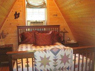 Cozy, Charming Vermont Chalet close to 5 major ski areas sleeps 5