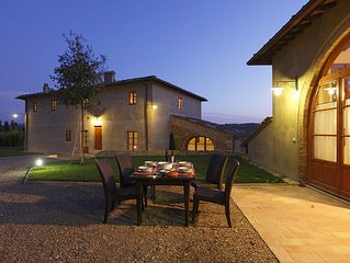 Luxury Villa with Swimmingpool in Chianti-Sleeps 22 (or +/- people).Large groups