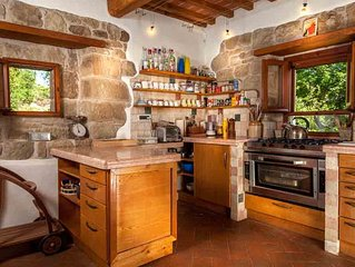 Beautifully restored stone villa with large private pool and stunning views.