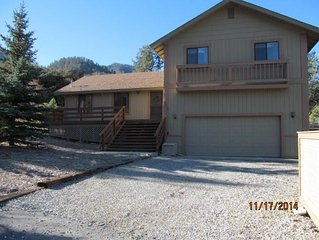 Gorgeous tri-level at 6000 feet, sleeps 8, 3 bedroom, 2-1/2 bath, huge decks.