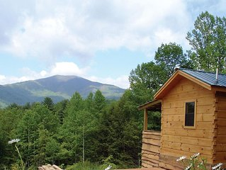 Hot Springs Log Cabins-Hot Tub, Fireplace, & Grill! Cozy&Romantic! Pet friendly