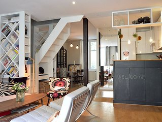 Artistic Duplex With Terrace In Montmartre, Ideal For A Family