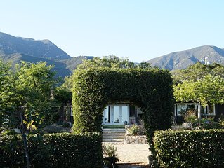 Sunny Montecito Cottage With 4 bedrooms & 3 baths, Gardens & Ocean View