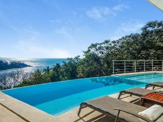 Gated Casa Castelli with sublime ocean view, lush