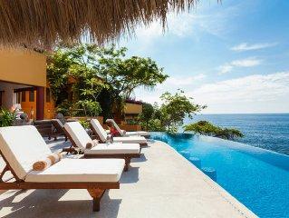 Eco-friendly, Cliffside, Villa Mandarinas with sa