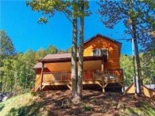 075 Watersplash: 2 BR / 2 BA two bedroom log cabin in Maggie Valley, Sleeps 5
