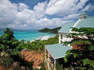 Refuge - Private beachfront villa features sea vi