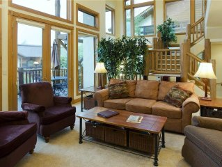Spacious townhome with brand-new beds ~ hot tub & pool ~ walk to the ski area!