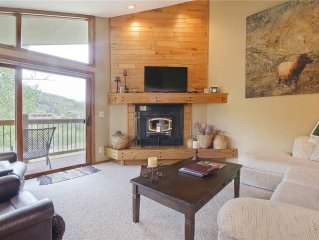 BEAUTIFUL, updated 3-BDR mountain condo with great views, private winter shuttl