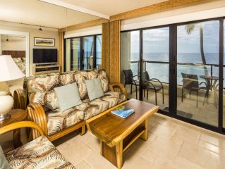 Poipu Shores - 2BR Deluxe Oceanfront  #301A