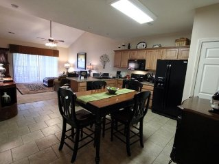 3 BR 2 Bath Lakefront Condo with full dock access.