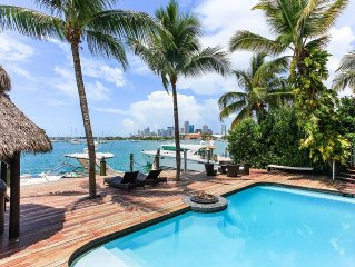 Waterfront Villa on Miami Biscayne Bay with Pool,