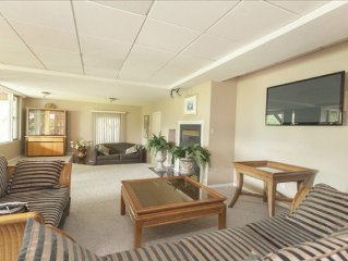 Spacious Lakefront Rental Suite with Private Beac