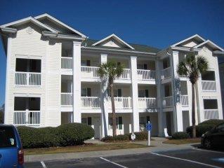 1st floor 2 bedroom golf condo, indoor pool, outdoor pool, washer/dryer