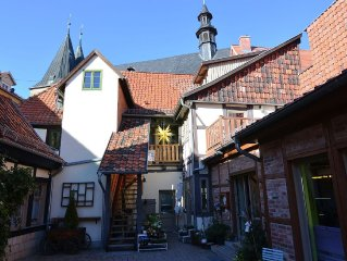 This attractive two-person holiday home in the town of Quedlinburg