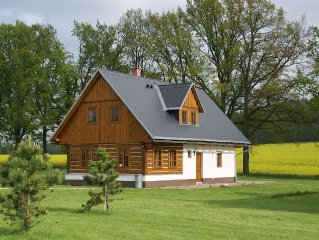 Characteristic villa with sauna at national park in Vrchlabi