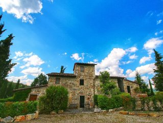 Farmhouse with pool, terrace and garden, walking distance from Radda in Chianti