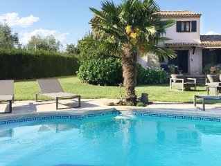 Villa with pool and stunning views in natural area, half hour drive from Cannes